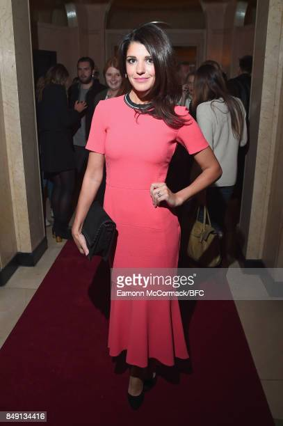 Natalie Anderson attends the Aspinal of London presentation during London Fashion Week September 2017 on September 18 2017 in London England