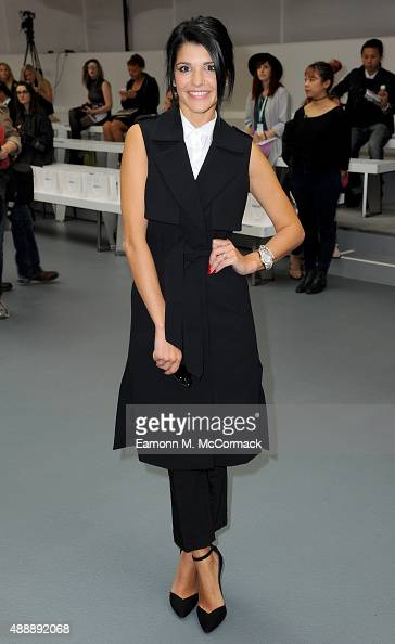 Natalie Anderson attends the Bora Aksu show during London Fashion Week Spring/Summer 2016 on September 18 2015 in London England