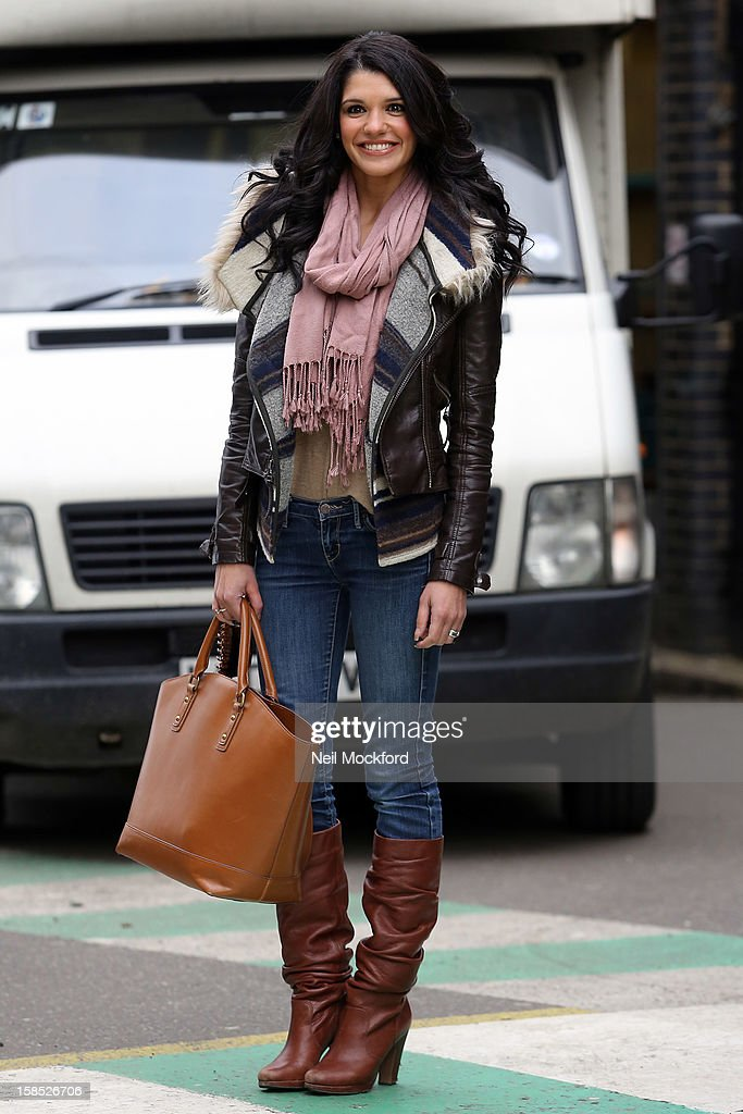 Natalie Anderson seen at the ITV Studios on December 18, 2012 in London, England.