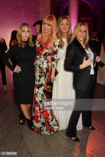 Natalie Appleton Amber Le Bon Laura Whitmore and Nicole Appleton attend The Elle Style Awards 2016 after party on February 23 2016 in London England