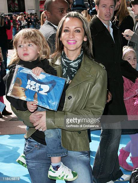 Natalie Appleton and Daughter during 'Ice Age 2 The Meltdown' London Premiere Arrivals at Leicester Square in London Great Britain