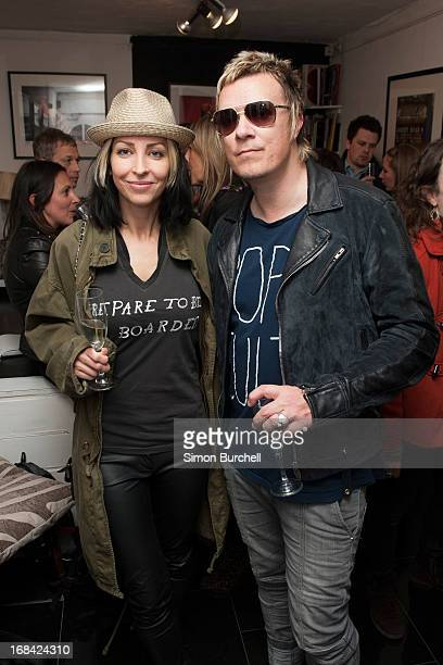Natalie Appleton and Liam Howlett attend an exhibition of unseen Abbey road and rare David Bowie photographs by Iain Macmillan and Mick Rock at Zebra...