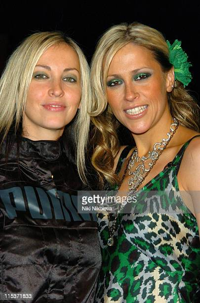 Natalie Appleton and Nicole Appleton during 'Hell's Kitchen II' Day 2 Arrivals at The Old Truman Brewery in London Great Britain