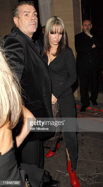 Natalie Appleton during Brit Awards 2007 After Party at Cuckoo Club in London Great Britain