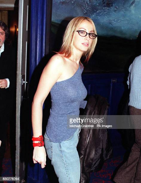 Natalie Appleton from the girl band All Saints arriving at the Tricycle Theatre in London to watch Paul Corcoran's hotly anticipated black...