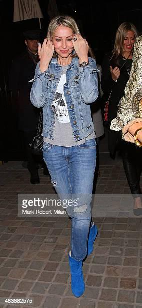 Natalie Appleton leaving the Chiltern Firehouse on April 10 2014 in London England