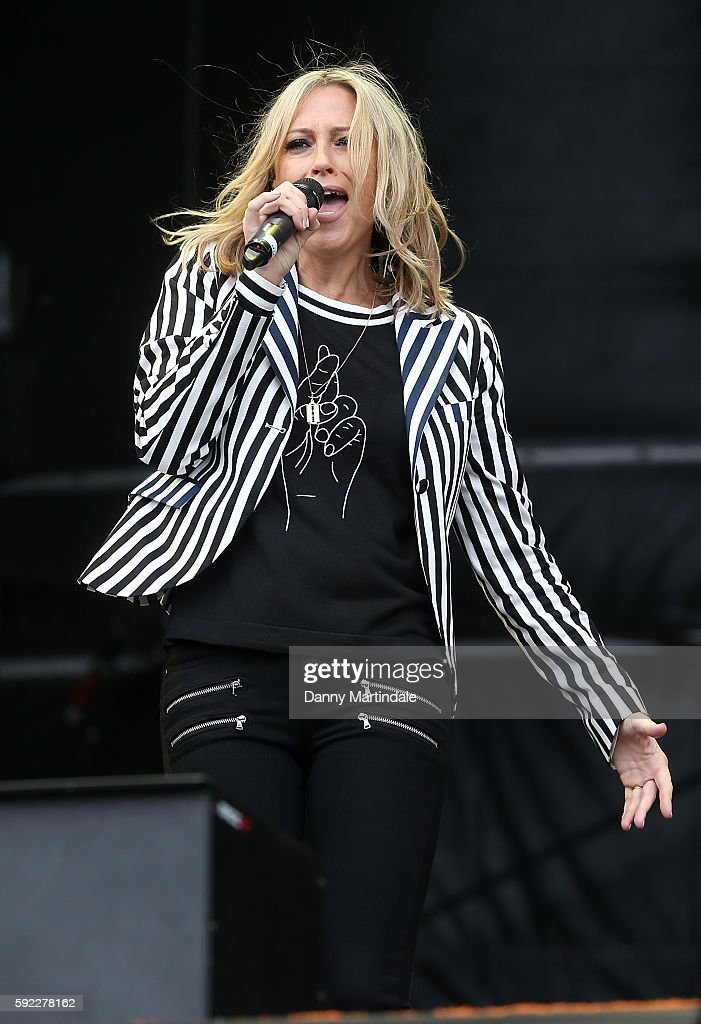 Natalie Appleton of All Saints performs at V Festival at Weston Park on August 20 2016 in Stafford England