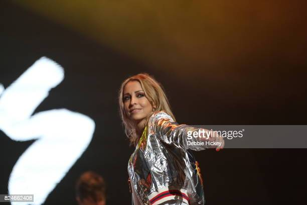 Natalie Appleton of All Saints performs during during Punchestown Music Festival at Punchestown Racecourse on July 30 2017 in Naas Ireland