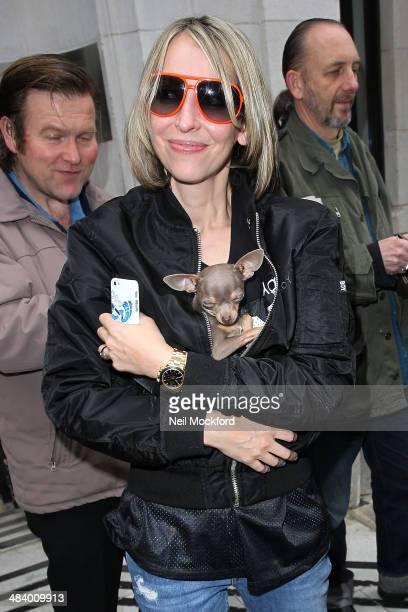 Natalie Appleton of All Saints seen at BBC Radio 2 on April 11 2014 in London England