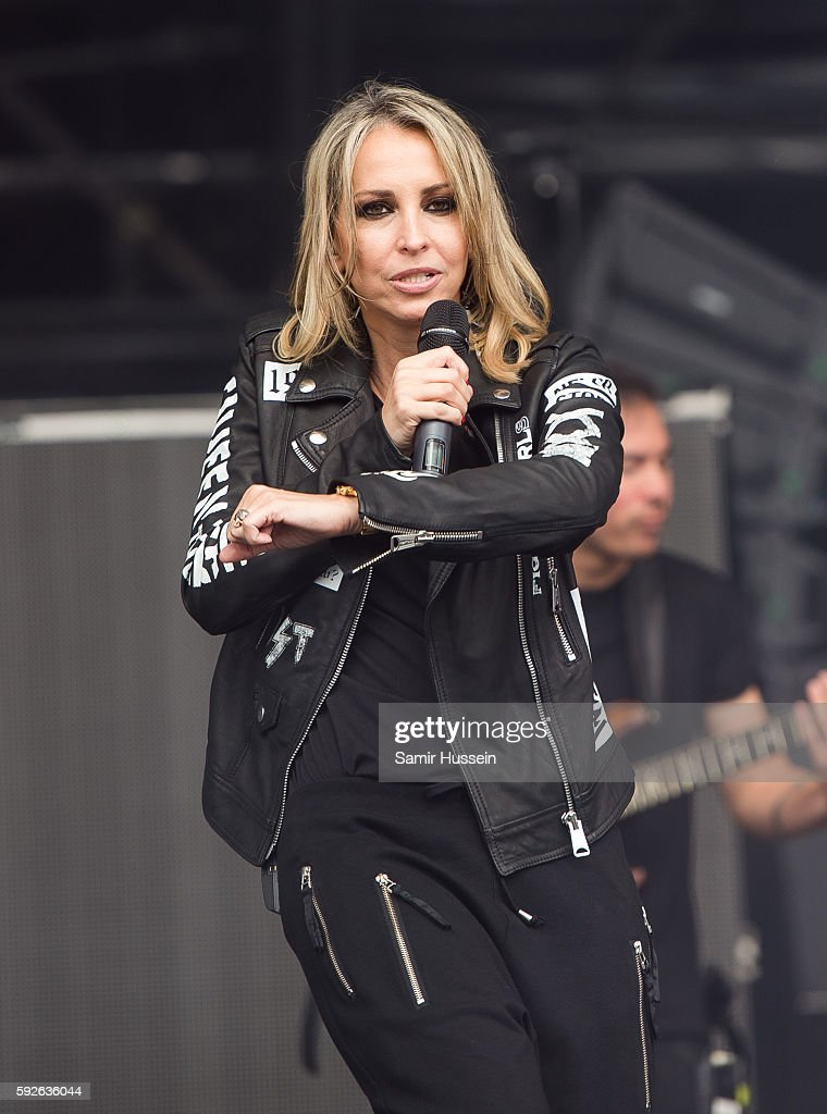 Natalie Appleton performs at V Festival at Hylands Park on August 21 2016 in Chelmsford England