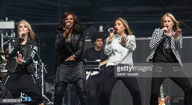 Natalie Appleton Shaznay Lewis Melanie Blatt and Nicole Appleton perform at V Festival at Hylands Park on August 21 2016 in Chelmsford England