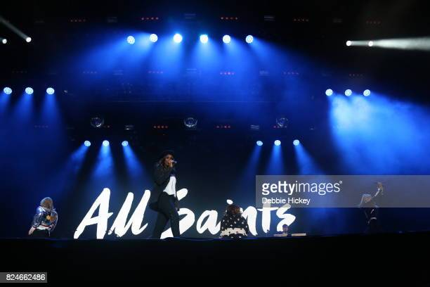 Natalie Appleton Shaznay Lewis Melanie Blatt and Nicole Appleton of All Saints perform during Punchestown Music Festival at Punchestown Racecourse on...