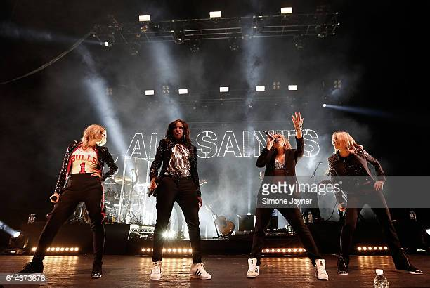 Natalie Appleton Shaznay Lewis Melanie Blatt Nicole Appleton of All Saints perform live on stage at O2 Academy Brixton on October 13 2016 in London...