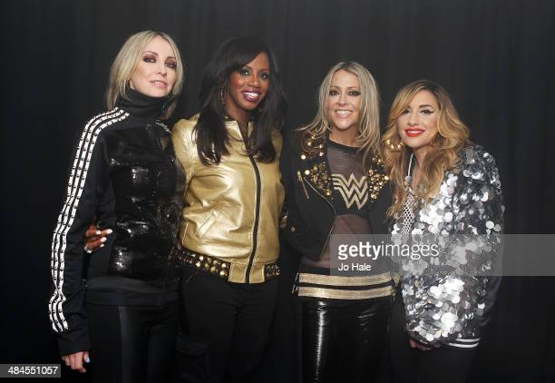 Natalie Appleton Shaznay Lewis Nicole Appleton and Melanie Blatt of All Saints pose backstage at Heaven at GAY on April 12 2014 in London England