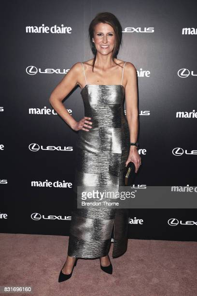 Natalie Barr arrives ahead of the 2017 Prix de Marie Claire Awards on August 15 2017 in Sydney Australia