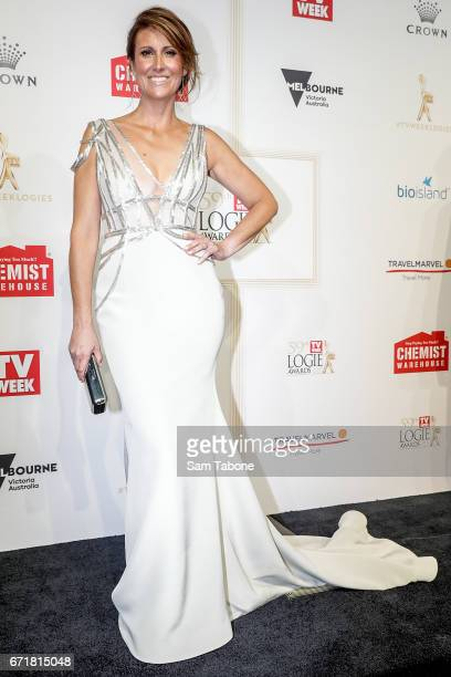 Natalie Barr arrives at the 59th Annual Logie Awards at Crown Palladium on April 23 2017 in Melbourne Australia