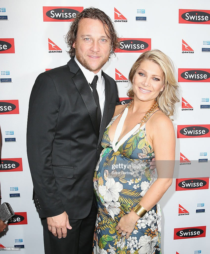<a gi-track='captionPersonalityLinkClicked' href=/galleries/search?phrase=Natalie+Bassingthwaighte&family=editorial&specificpeople=208779 ng-click='$event.stopPropagation()'>Natalie Bassingthwaighte</a> and Cameron McGlinchey arrive at a Ellen DeGeneres Welcome Party on March 26, 2013 in Melbourne, Australia. Ellen DeGeneres is in Australia to film segments for her TV show, 'Ellen'.