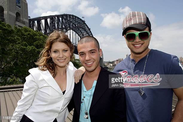 Natalie Bassingthwaighte Anthony Callea and Guy Sebastian