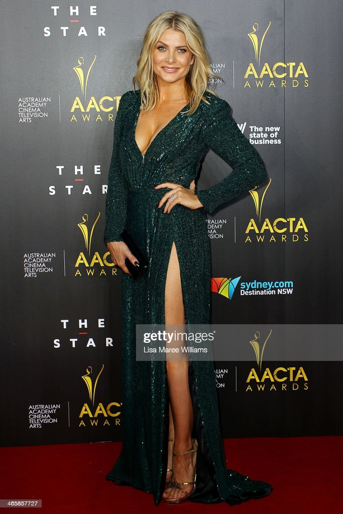 <a gi-track='captionPersonalityLinkClicked' href=/galleries/search?phrase=Natalie+Bassingthwaighte&family=editorial&specificpeople=208779 ng-click='$event.stopPropagation()'>Natalie Bassingthwaighte</a> arrives at the 3rd Annual AACTA Awards Ceremony at The Star on January 30, 2014 in Sydney, Australia.