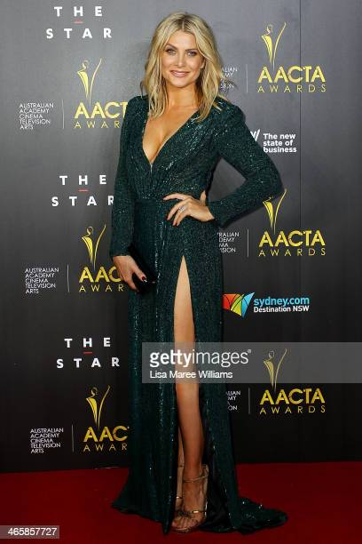Natalie Bassingthwaighte arrives at the 3rd Annual AACTA Awards Ceremony at The Star on January 30 2014 in Sydney Australia