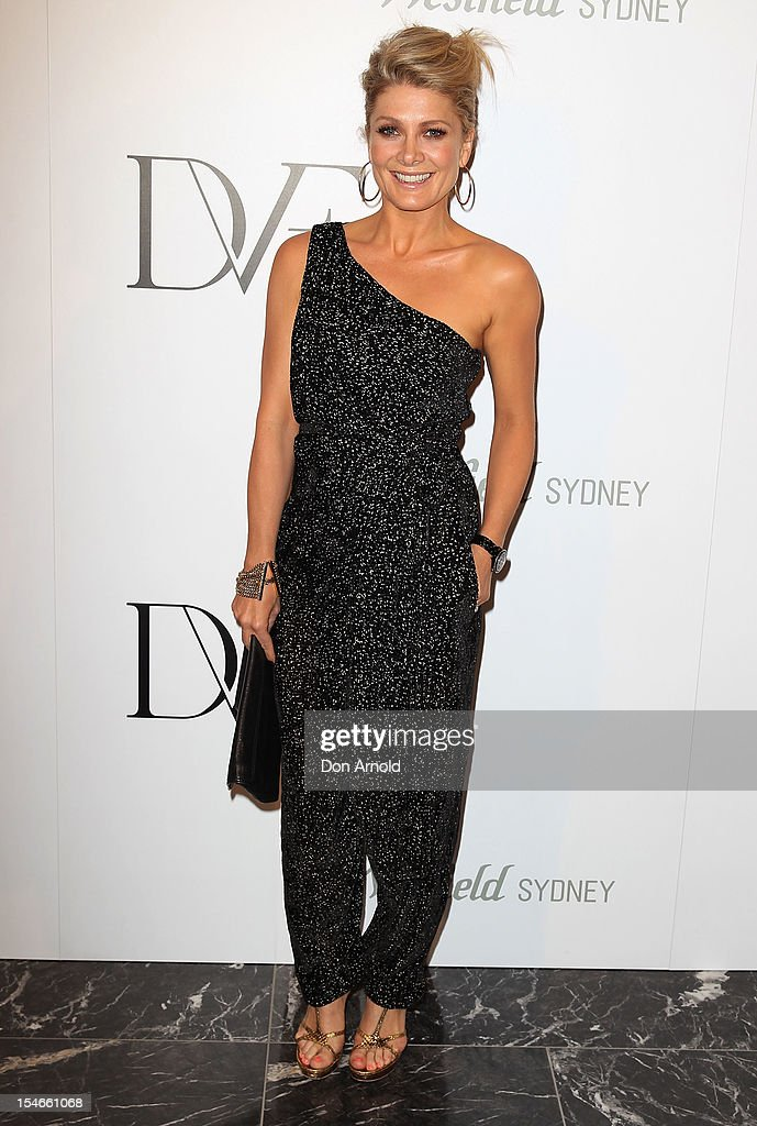 Natalie Bassingthwaighte arrives at the Diane Von Furstenberg 2013 Palazzo DVF Collection show at Sydney Westfield Shopping Centre on October 24, 2012 in Sydney, Australia.
