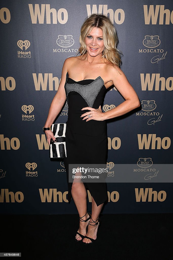 Natalie Bassingthwaighte poses at WHO's sexiest people party 2014 at Fox Studios on October 22 2014 in Sydney Australia