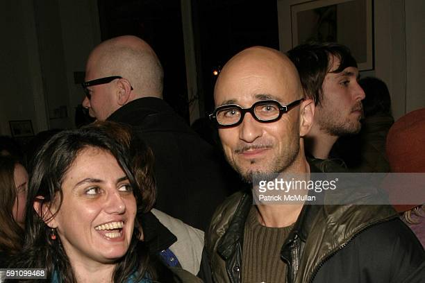 Natalie Belayche and Antoine Campe attend Edie Sedgwick Unseen Photographs of a Warhol Superstar Opening Reception Hosted by Misha Sedgwick at...