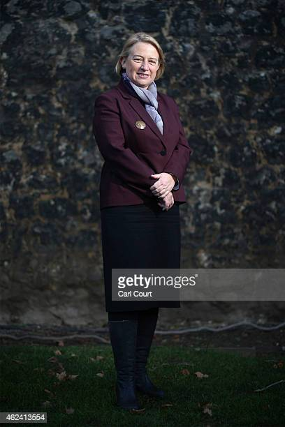 Natalie Bennett the leader of the Green Party poses for a photograph on January 28 2015 in London England Prime Minister David Cameron has stated...