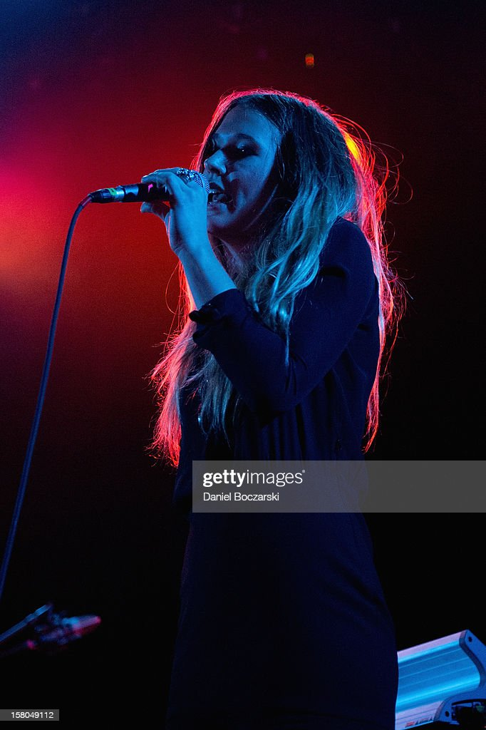 Natalie Bergman of Wild Belle performs at Metro on December 9, 2012 in Chicago, Illinois.