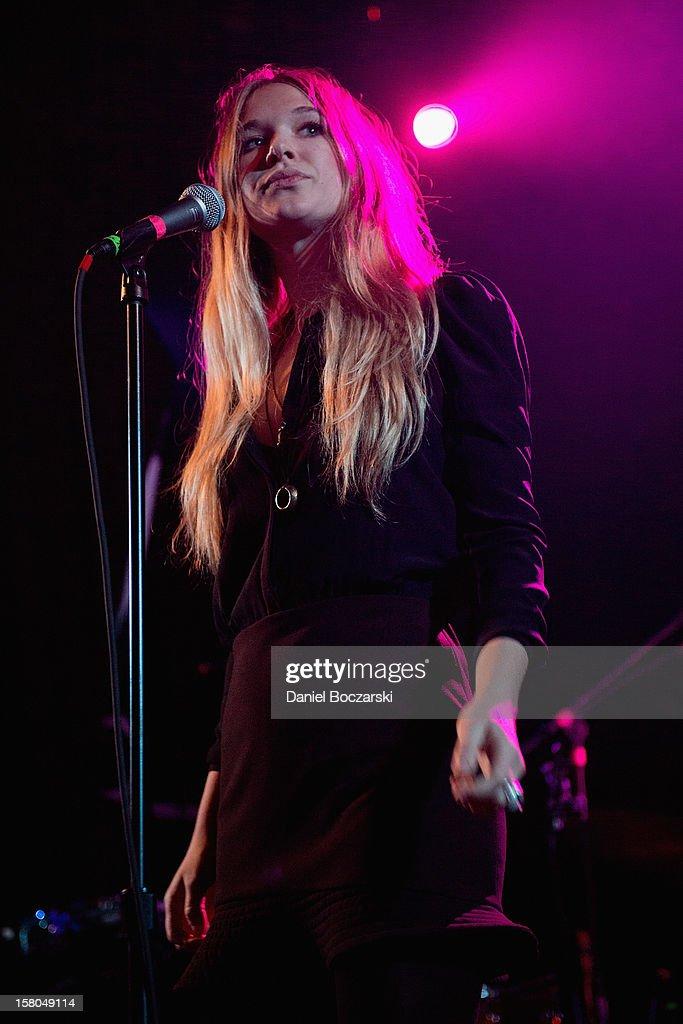 Natalie Bergman of Wild Belle performs at Metro on December 9, 2012 in Chicago, Illinois.