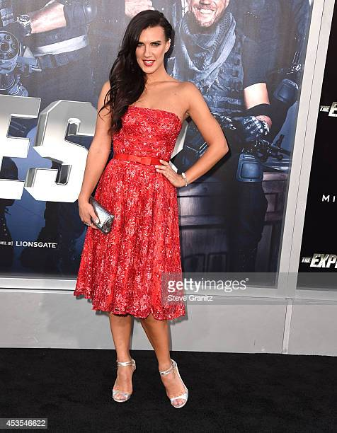 Natalie Burn arrives at the 'The Expendables 3' Los Angeles Premiere at TCL Chinese Theatre on August 11 2014 in Hollywood California