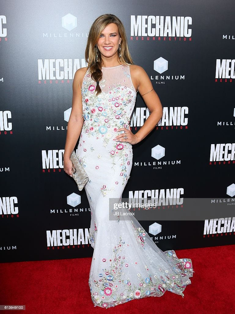 Natalie Burn attends the premiere of Summit Entertainment's 'Mechanic: Resurrection' on August 22, 2016 in Hollywood, California.