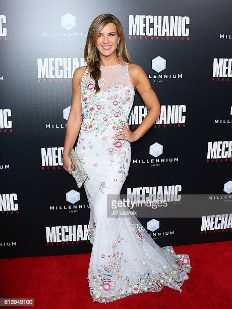 Natalie Burn attends the premiere of Summit Entertainment's 'Mechanic Resurrection' on August 22 2016 in Hollywood California