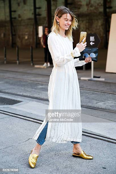 Natalie Cantell arrives at MercedesBenz Fashion Week Resort 17 Collections at Carriageworks on May 19 2016 in Sydney New South Wales
