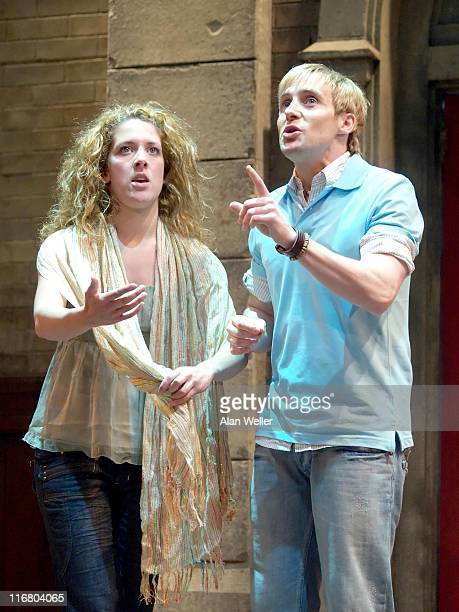 Natalie Casey and Ian H Watkins during 'Fame The Musical' Photocall in London May 4 2007 at Shaftesbury Theatre in London Great Britain