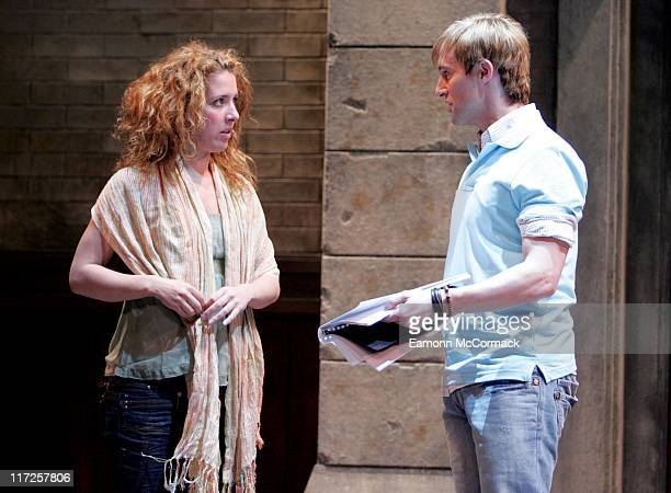 Natalie Casey and Ian H Watkins during Fame The Musical Photocall in London May 4 2007 at Shaftesbury Theatre in London Great Britain
