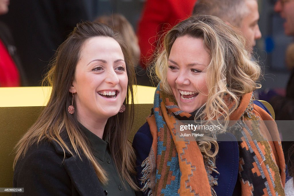 Natalie Cassidy and Charlie Brooks attend the UK premiere of 'Peppa Pig: The Golden Boots' at Odeon Leicester Square, on February 1, 2015 in London, England.