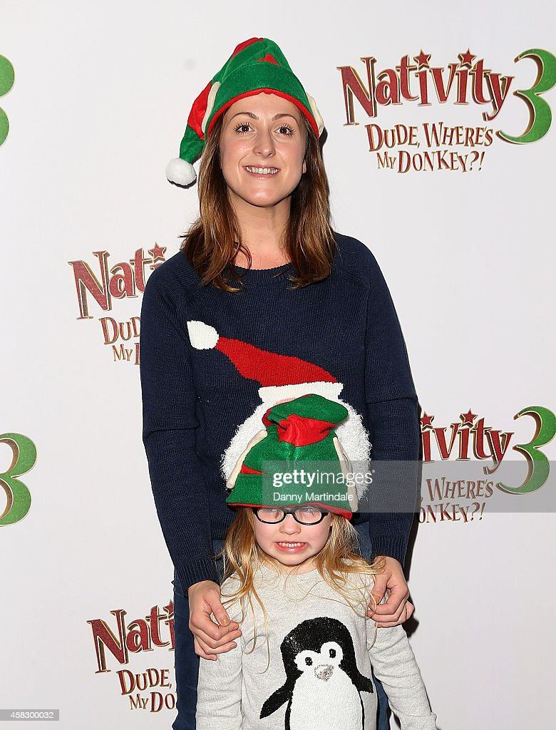 Natalie Cassidy and Eliza Beatrice attends the UK Premiere of 'Nativity 3: Dude Where's My Donkey?' at Vue West End on November 2, 2014 in London, England.