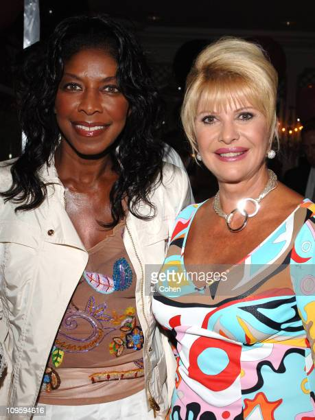 Natalie Cole and Ivana Trump during Ivana Las Vegas Cocktail Party at Regent Beverly Wilshire Hotel in Beverly Hills California United States