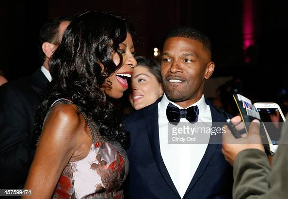 Natalie Cole and Jamie Foxx attend Angel Ball 2014 hosted by Gabrielle's Angel Foundation at Cipriani Wall Street on October 20 2014 in New York City