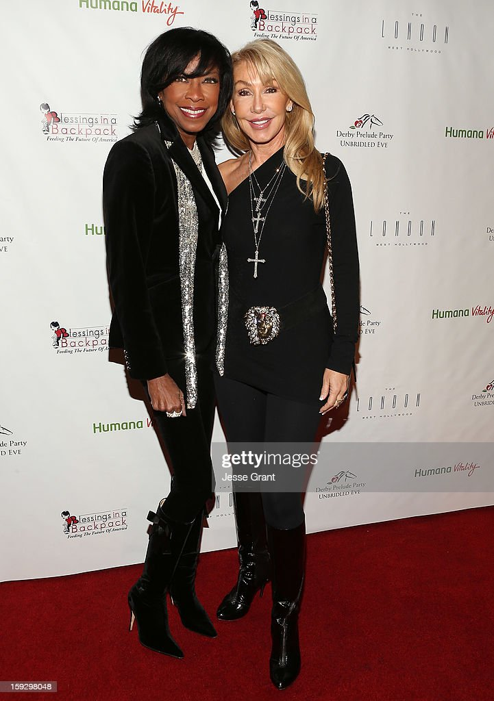 Natalie Cole and Linda Thompson attend The 4th Annual Unbridled Eve Derby Prelude Party at The London West Hollywood on January 10, 2013 in West Hollywood, California.