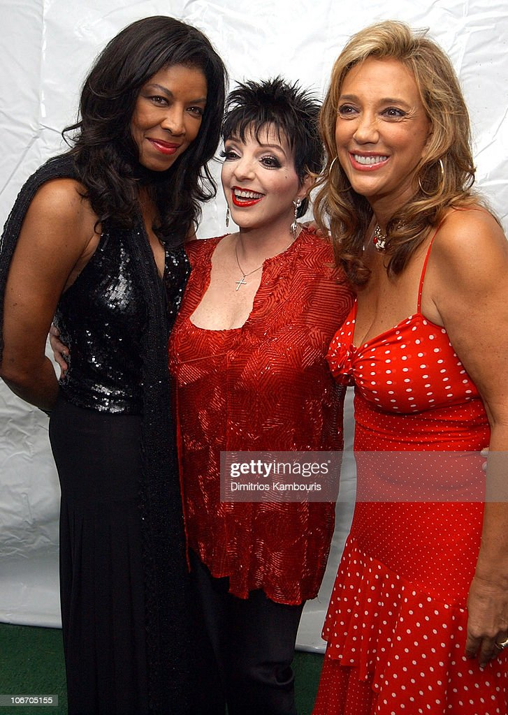 <a gi-track='captionPersonalityLinkClicked' href=/galleries/search?phrase=Natalie+Cole&family=editorial&specificpeople=201839 ng-click='$event.stopPropagation()'>Natalie Cole</a>. <a gi-track='captionPersonalityLinkClicked' href=/galleries/search?phrase=Liza+Minnelli&family=editorial&specificpeople=121547 ng-click='$event.stopPropagation()'>Liza Minnelli</a> and <a gi-track='captionPersonalityLinkClicked' href=/galleries/search?phrase=Denise+Rich&family=editorial&specificpeople=204678 ng-click='$event.stopPropagation()'>Denise Rich</a> during G&P Foundation for Cancer Research, Basha, Novartis, and Teresco Enterprises present 'Come to the Cabaret', featuring <a gi-track='captionPersonalityLinkClicked' href=/galleries/search?phrase=Liza+Minnelli&family=editorial&specificpeople=121547 ng-click='$event.stopPropagation()'>Liza Minnelli</a> at The home of <a gi-track='captionPersonalityLinkClicked' href=/galleries/search?phrase=Denise+Rich&family=editorial&specificpeople=204678 ng-click='$event.stopPropagation()'>Denise Rich</a> in Southhampton, New York, United States.