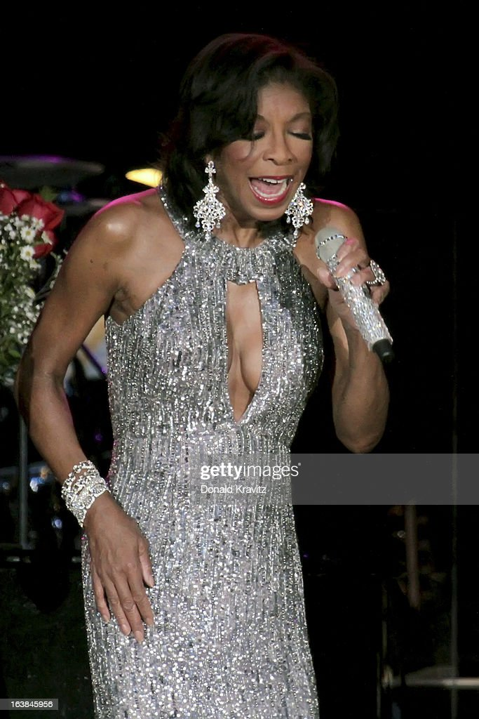 <a gi-track='captionPersonalityLinkClicked' href=/galleries/search?phrase=Natalie+Cole&family=editorial&specificpeople=201839 ng-click='$event.stopPropagation()'>Natalie Cole</a> performs in concert at Mark G. Etess Arena - Trump Taj Mahal on March 16, 2013 in Atlantic City, New Jersey.