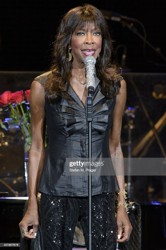 Natalie Cole performs on stage at Tollwood Festival on July 9 2014 in Munich Germany