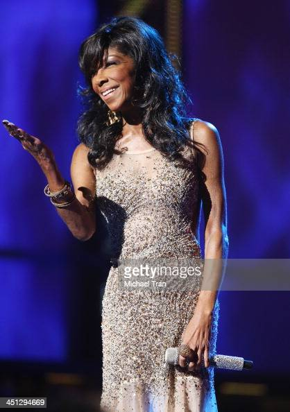 Natalie Cole performs onstage during the 14th Annual Latin GRAMMY Awards held at Mandalay Bay Resort and Casino on November 21 2013 in Las Vegas...