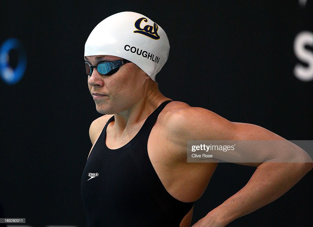 <a gi-track='captionPersonalityLinkClicked' href=/galleries/search?phrase=Natalie+Coughlin+-+Swimmer&family=editorial&specificpeople=171726 ng-click='$event.stopPropagation()'>Natalie Coughlin</a> of USA prepares to compete in the Women's 100m Freestyle heats on Day One of the 2013 British Gas International Meeting at John Charles Centre for Sport on March 7, 2013 in Leeds, England.