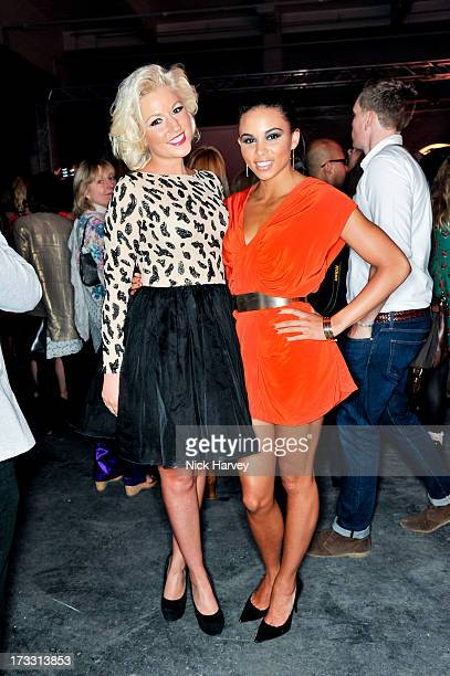 Natalie coyle and Louise Hazel attend the Lulu Guinness Paint Project party at Old Sorting Office on July 11 2013 in London England