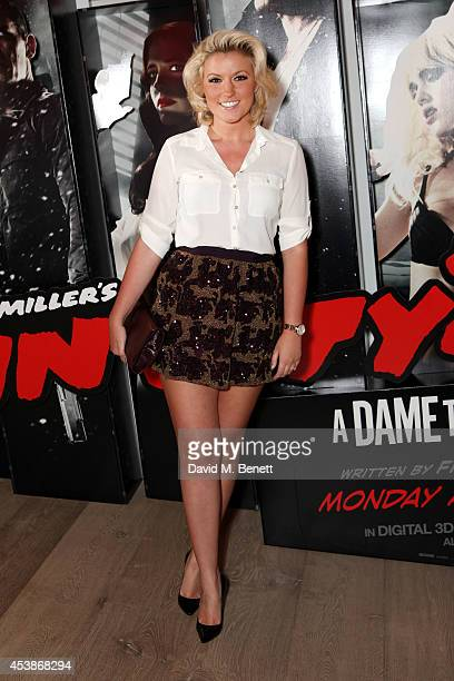 Natalie Coyle attends a VIP screening of 'Sin City 2' at Ham Yard Hotel on August 20 2014 in London England