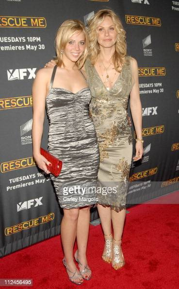 Natalie Distler and Andrea Roth during 'Rescue Me' Season Three New York Premiere at Ziegfeld Theater in New York City New York United States