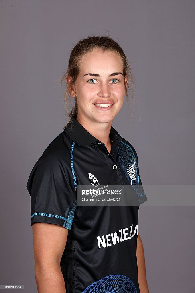 Natalie Dodd of New Zealand poses at a portrait session ahead of the ICC Womens World Cup 2013 at the Taj Mahal Palace Hotel on January 27, 2013 in Mumbai, India.